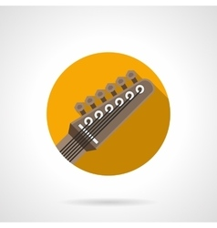 Guitar headstock round flat color icon vector