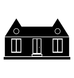 Suburban american house icon simple style vector