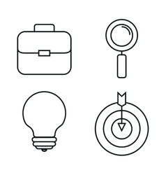 Business set line icons vector