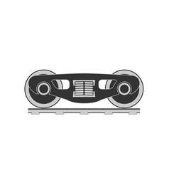 Wheels and bogie silhouette vector