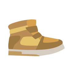 Autumn season leather trainer shoe isolated vector