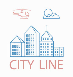 Line linear urban city landscape vector