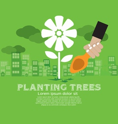Planting trees vector
