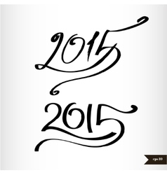 Happy new year handwritten calligraphic watercolor vector