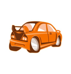 Cartoon style sports car isolated vector