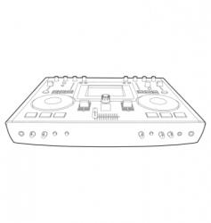 dj mixer vector image