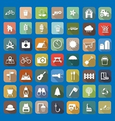 49 Universal Flat Icons vector image vector image