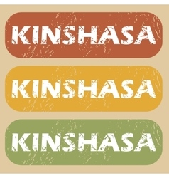 Vintage kinshasa stamp set vector
