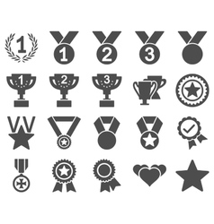 Competition  success bicolor icons vector