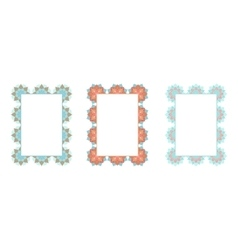 Frames with oriental pattern vector