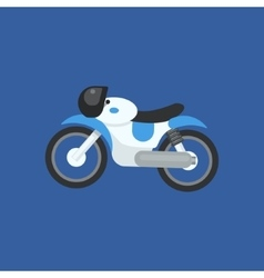 Futuristic motorcycle design vector
