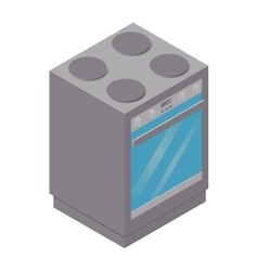 Isometric stove icon vector