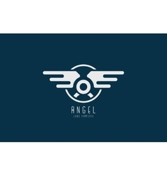 Angel logo minimalistic logo design wings logo vector