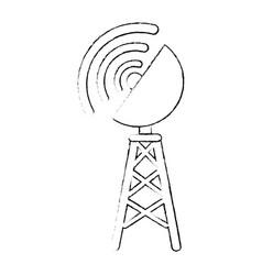 antenna icon image vector image