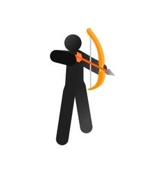 Archer isometric 3d icon vector image