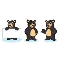 Black bear mascot happy vector