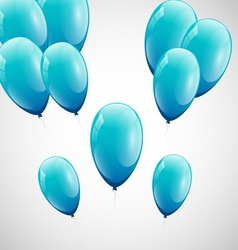 Blue balloons with white background vector
