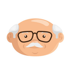 Cartoon grandfather icon vector