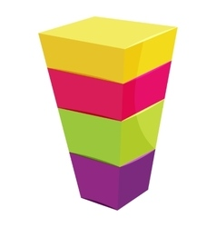 Color cubes stacked icon cartoon style vector image