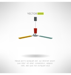 Colorfull bright ceiling fan vintage home vector