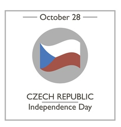 Czech republic independence day vector
