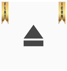 Eject or open player icon vector image vector image