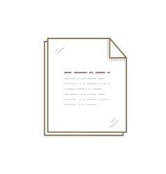 Flat Line File Icon Creative vector image