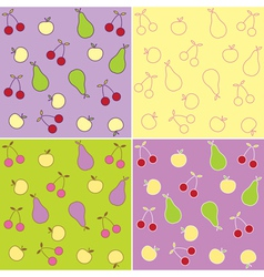 fruit seamless backgrounds vector image vector image
