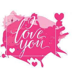Happy valentine s day card with calligraphy vector