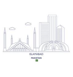 Islamabad city skyline vector