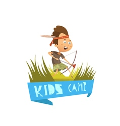 Kids Camp Concept vector image