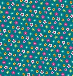 mod floral pattern vector image vector image