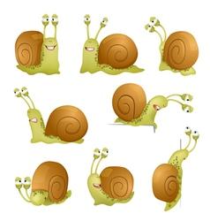 snails set vector image vector image
