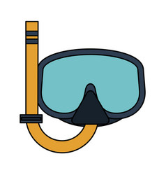 Snorkeling mask diving icon image vector
