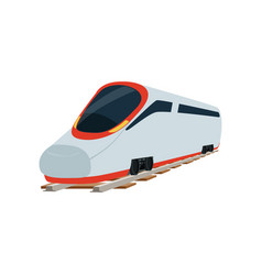 Speed modern super streamlined high speed railway vector