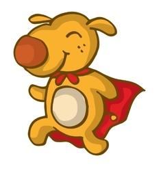 Super dog funny cartoon design vector image
