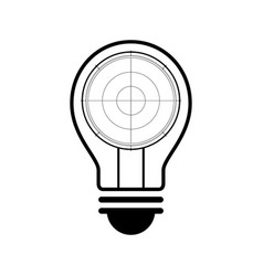 technology future radar screen light bulb vector image