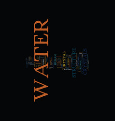 The miraculous message of water text background vector