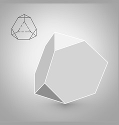 Trancahed tetrahedron is a geometric figure vector