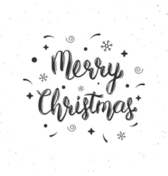 Merry christmas handwritten brush lettering vector