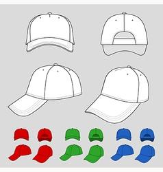 Baseball tennis cap vector image