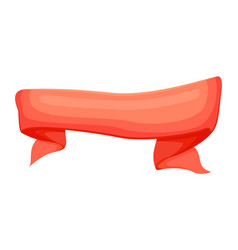 red promotion ribbon isolated vector image