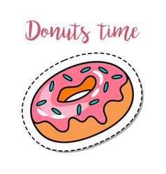 Fashion patch element donut vector
