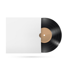 Vinyl records on white background for creative vector
