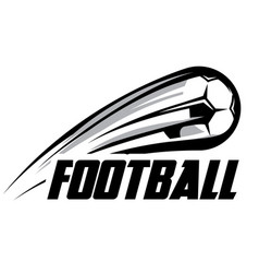 Logo template with soccer ball vector