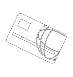 bank card credit or debit finance security money vector image