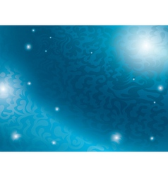 blue background with abstract tracery vector image