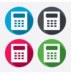 Calculator sign icon bookkeeping symbol vector