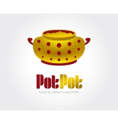 Abstract pot logo template for branding and vector