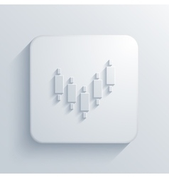 Modern binary options light icon vector